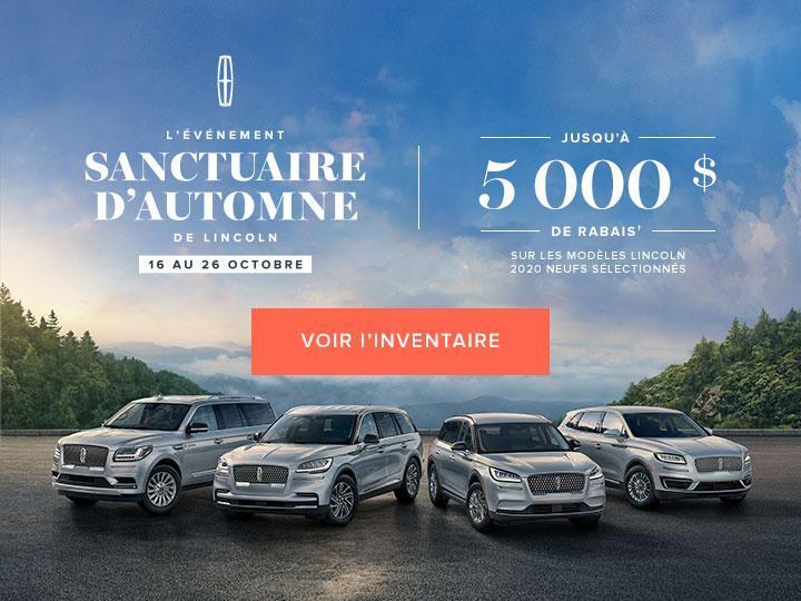 L'EVENEMENT SANCTUAIRE D'AUTOMNE DE LINCOLN