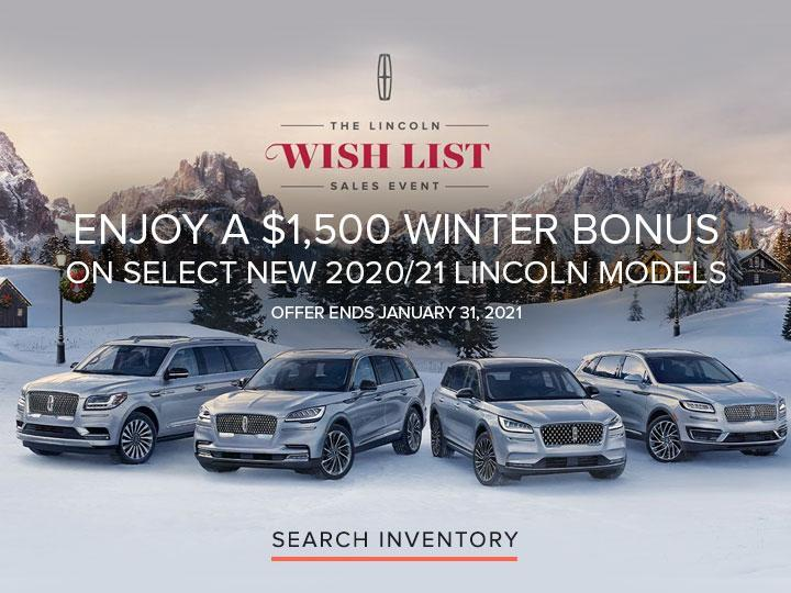 The Lincoln Wish List Sales Event