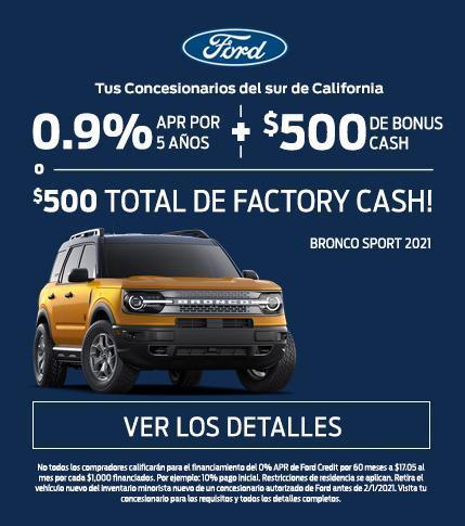 2021 Bronco Sport Offer