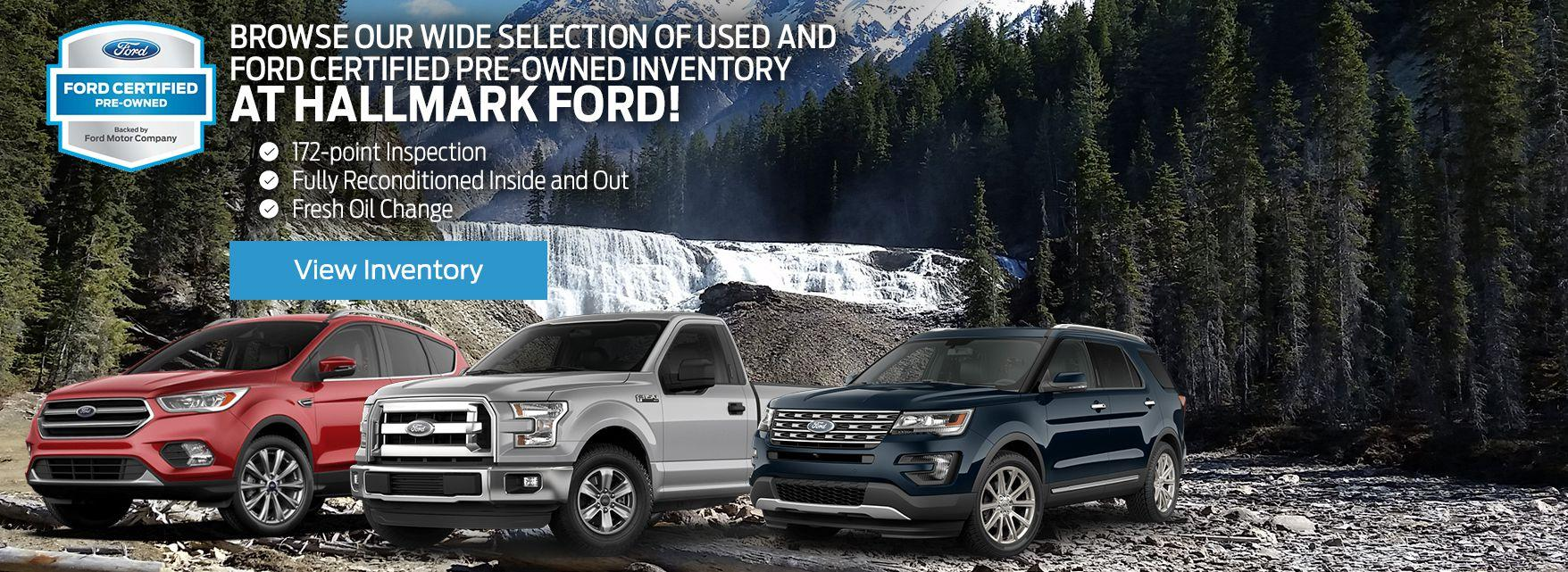 Certified Pre-Owned Inventory at Hallmark Ford