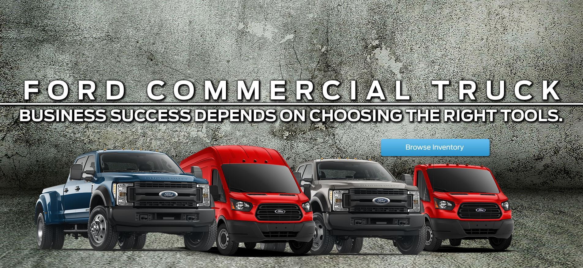 Commercial fleet trucks multiple