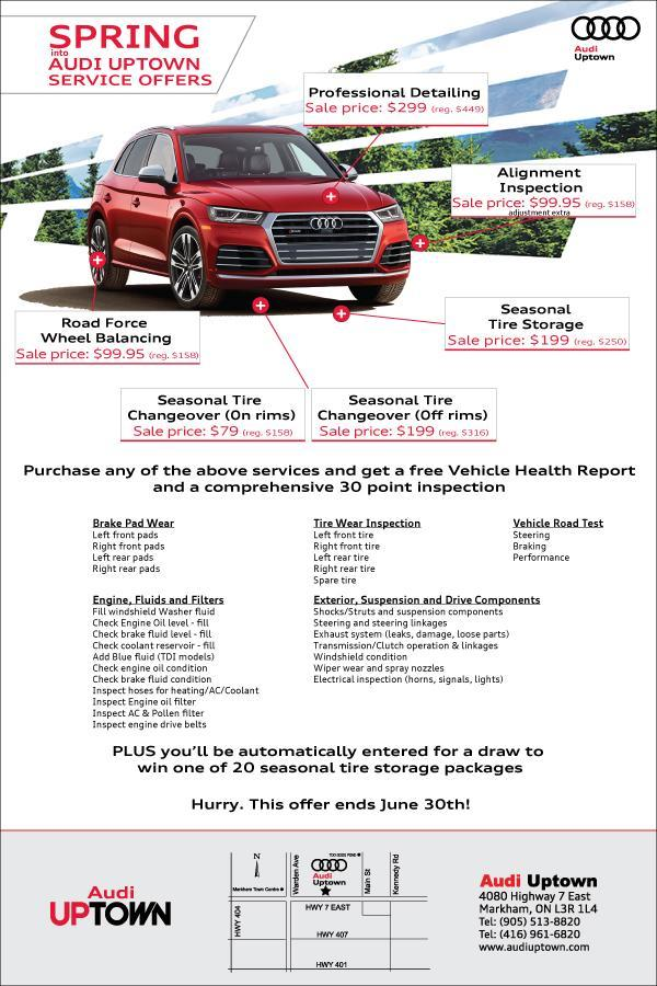 Audi Uptown Spring Service Offers