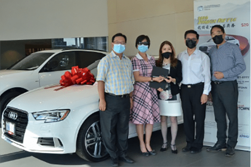 Audi Uptown Dragon Ball Draw Winners of Audi A3 presented by Ms. Helen Ching-Kircher