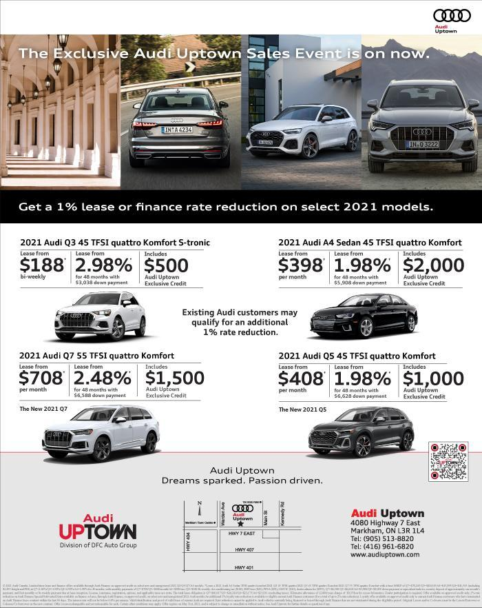 Exclusive Audi Uptown Sales Event