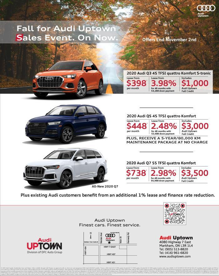 Fall For Audi Uptown Sales Event