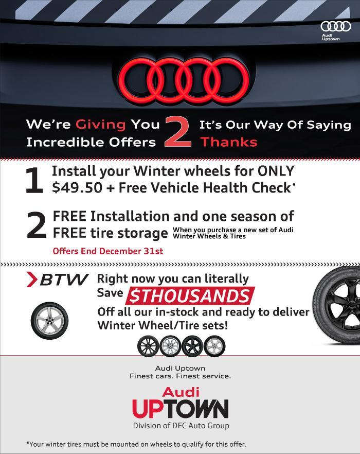 Audi Uptown Fall Service Offer