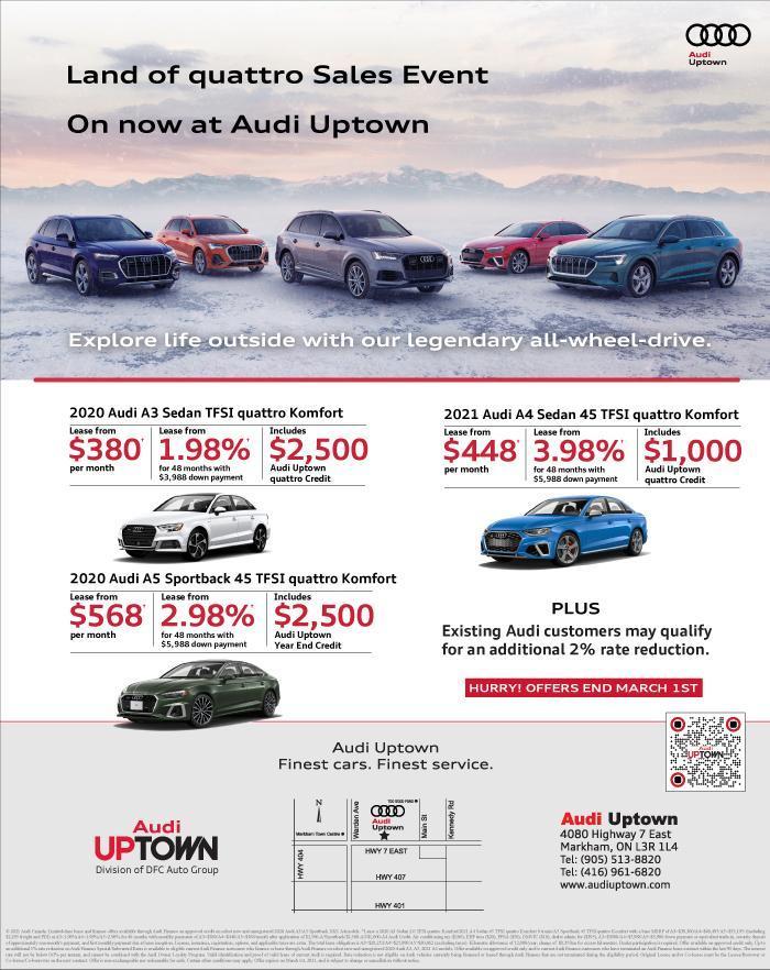 Audi Uptown Land of quattro Sales Event