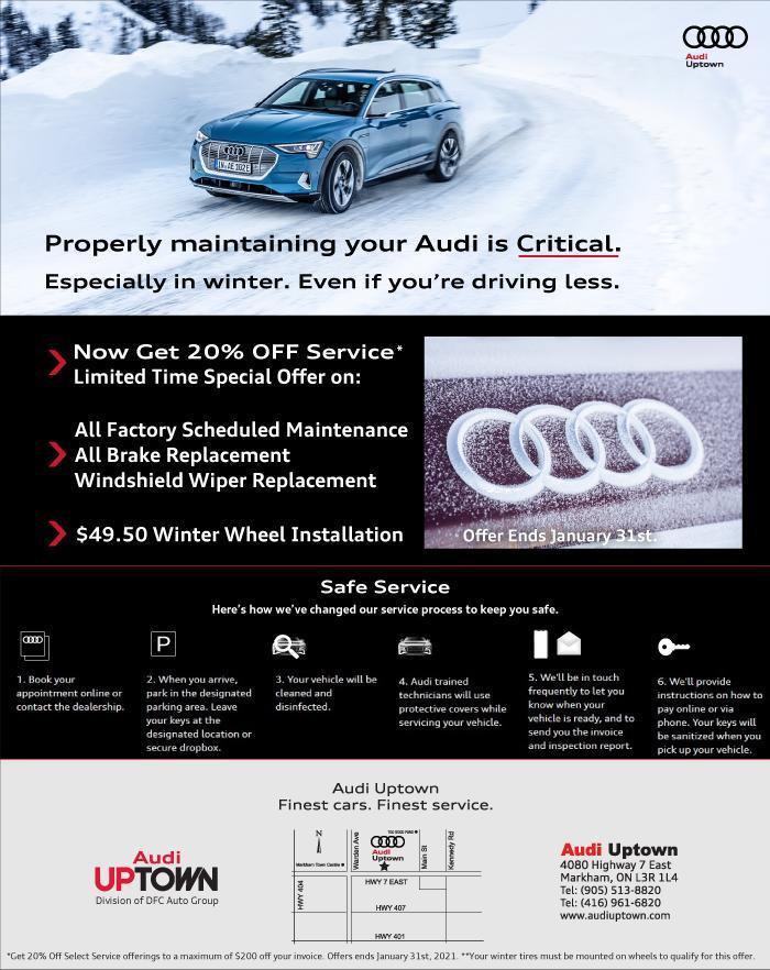 Audi Uptown Winter Service Offer