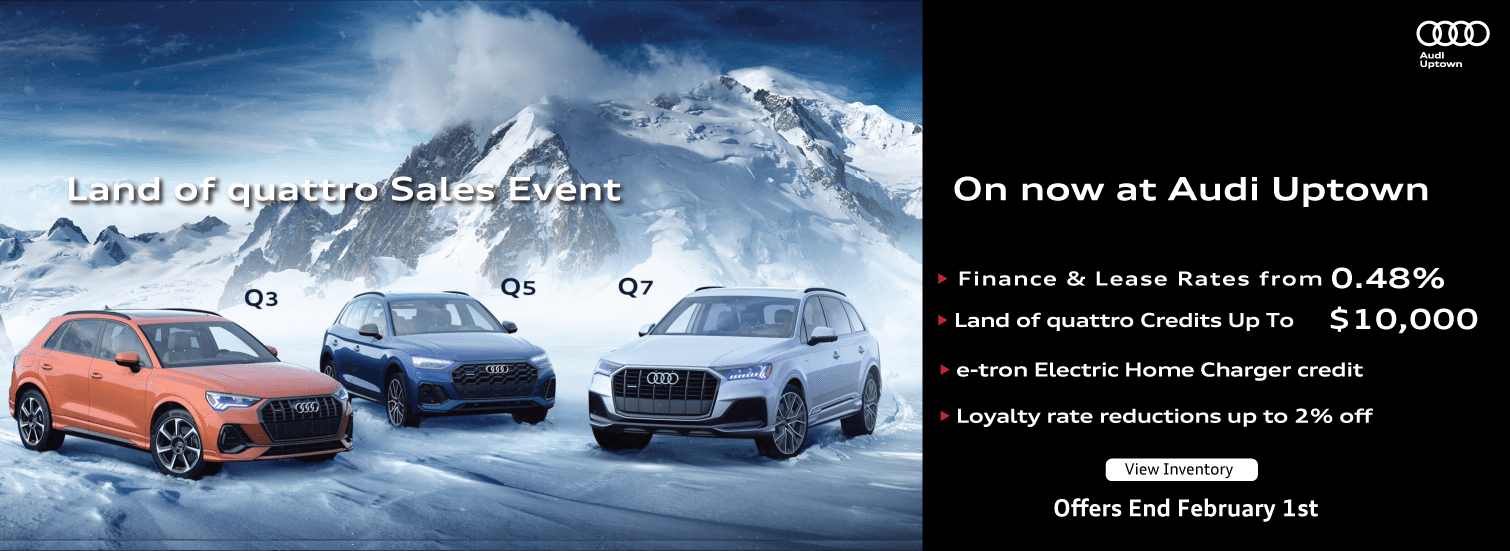 The Audi Uptown Land of quattro Sales Event