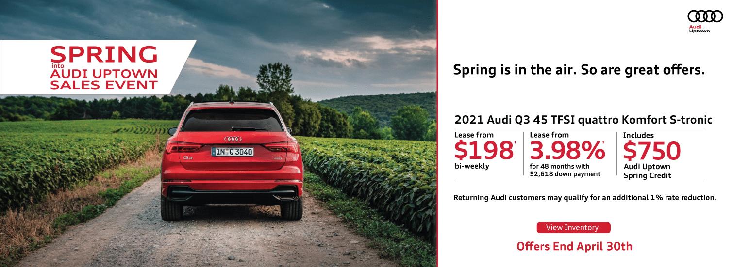 Spring into Audi Uptown Q3