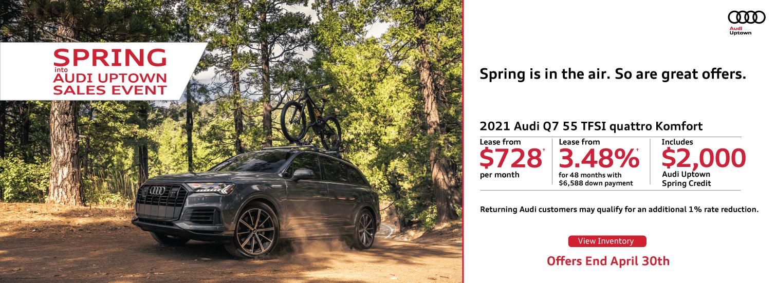 Spring Into Audi Uptown Q7