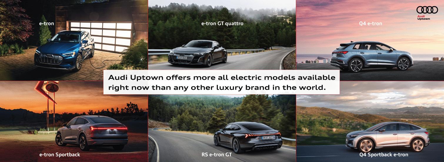 Audi Uptown Full EV Model Range Choice