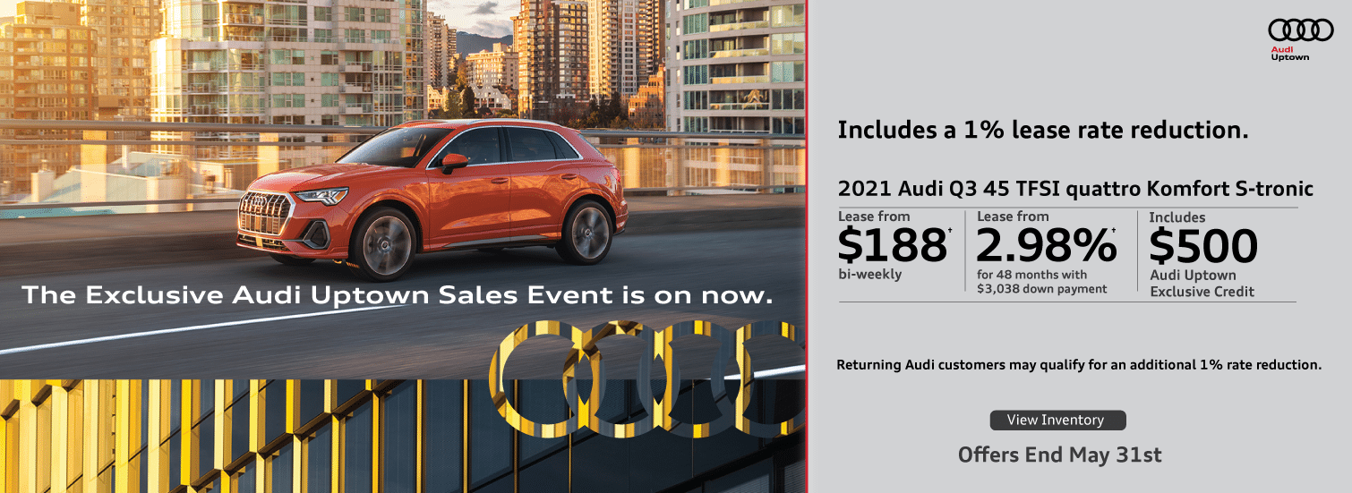 Exclusive Audi Uptown Q3 Offer