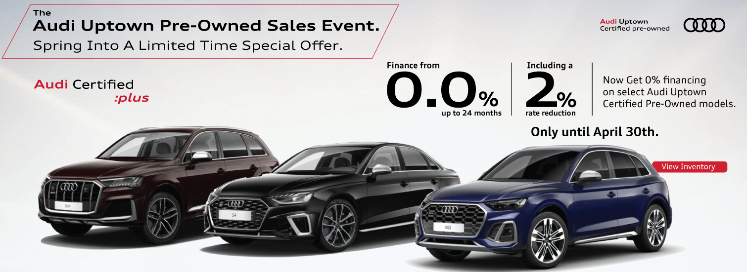Audi Uptown Certified Pre Owned April Offer