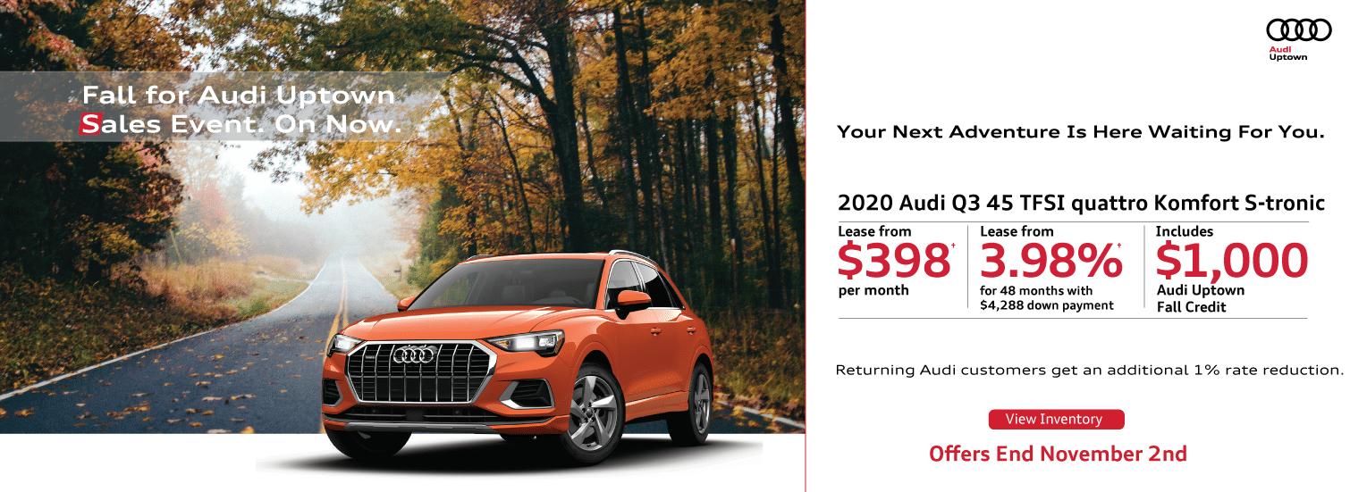 Audi Uptown Fall Offer Q3