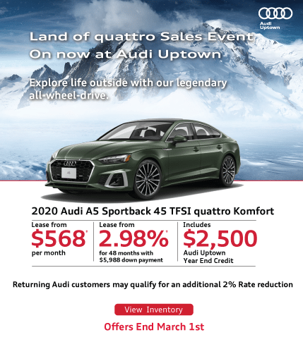 Audi Uptown Land of quattro sales event