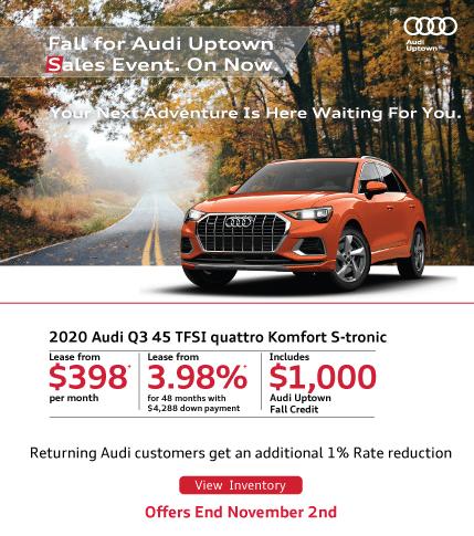 Audi Uptown Fall Event Q3