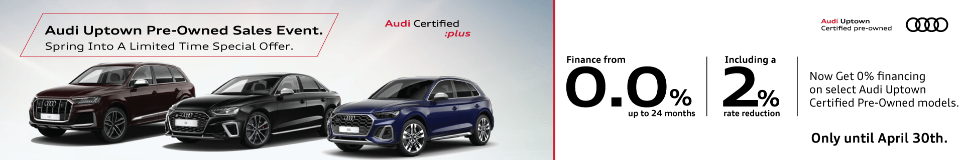 Audi Uptown April CPO Offer