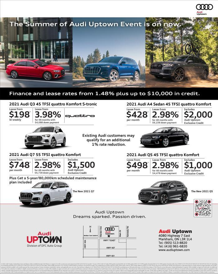 Summer of Audi Uptown Sales Event
