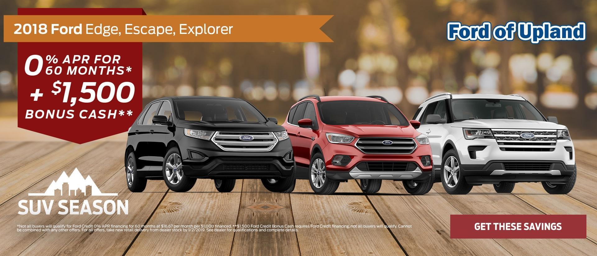 2018 Ford Edge, Escape, Explorer