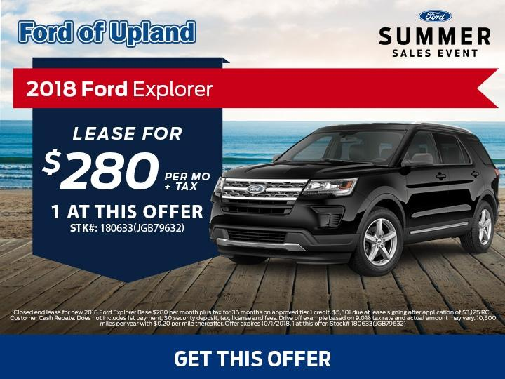 2018 Explorer Lease Offer