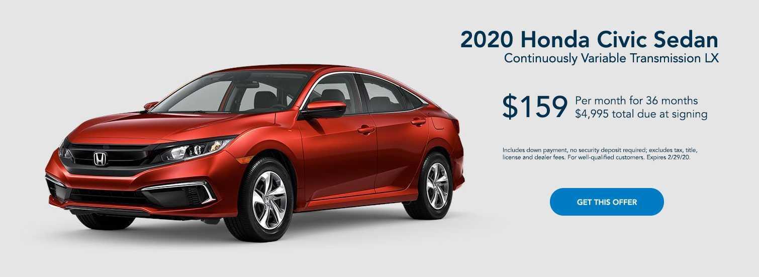 2020 Red Honda Civic Sedan
