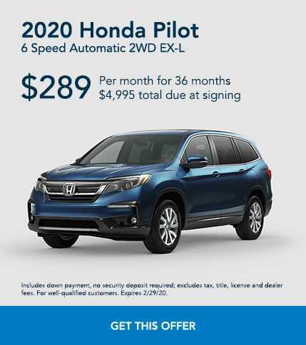 2020 Blue Honda Pilot