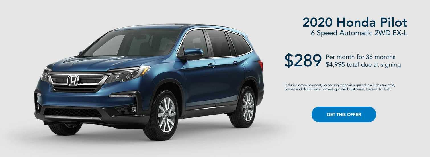 2020 Blue Honda Pilot Offer