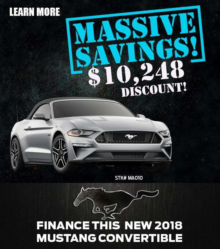 2018 Mustang offer silver