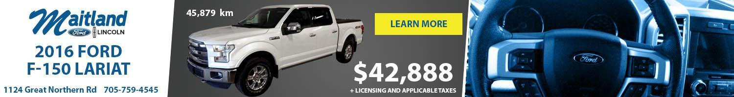 2016 F-150 Truck White on sale