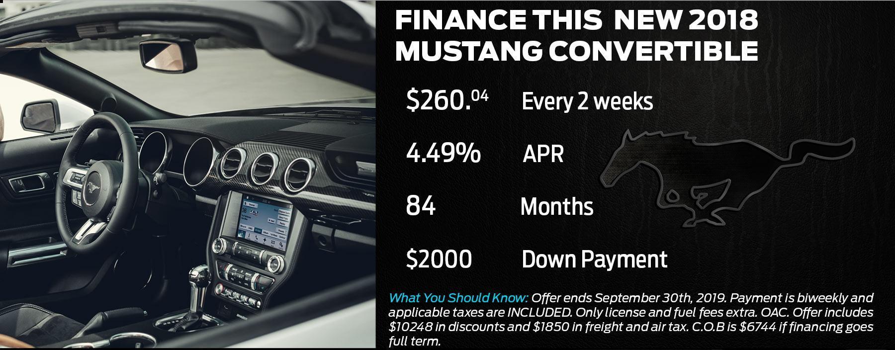 Mustang Offer