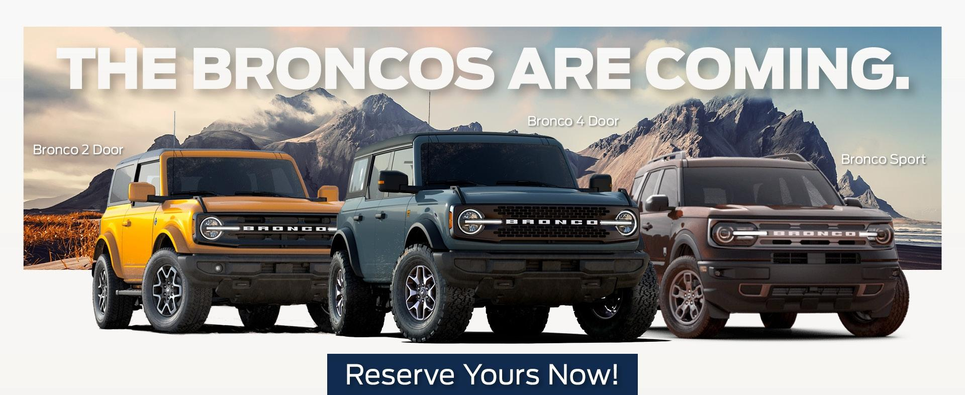 The Broncos Are Coming Banner