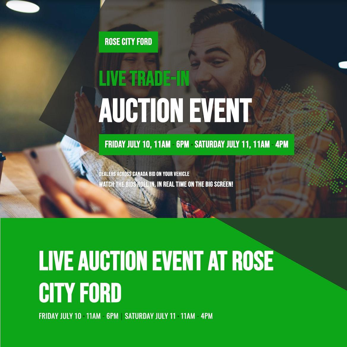 TradeRev - LIVE AUCTION AT ROSE CITY FORD