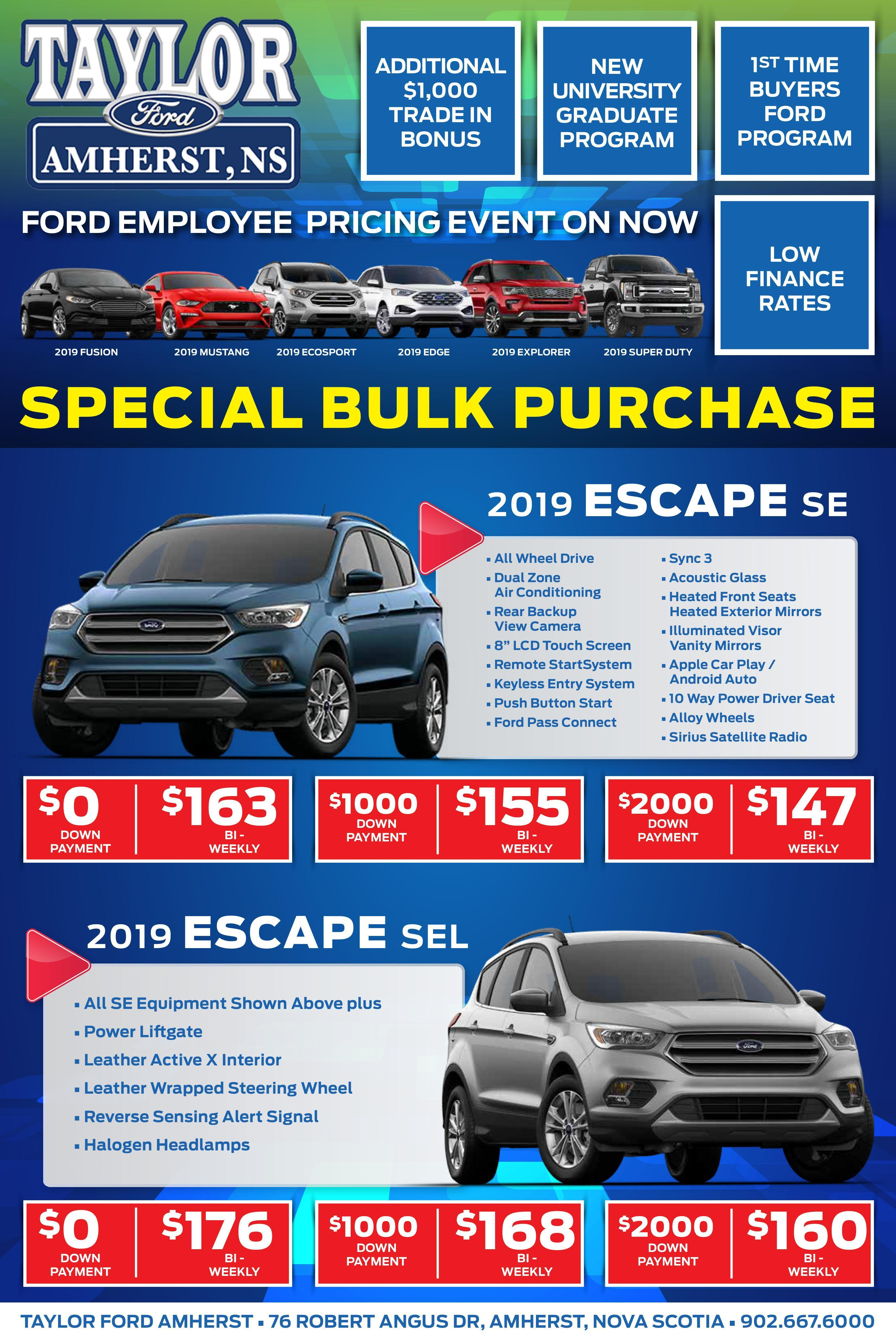 Ford Employee Pricing Escape