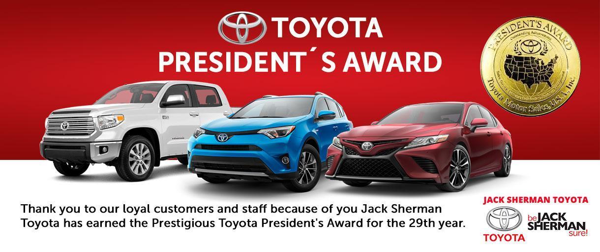 Jack Sherman Toyota President's Award