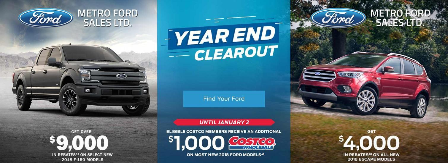 Year End Clearance on now at Metro Ford Calgary