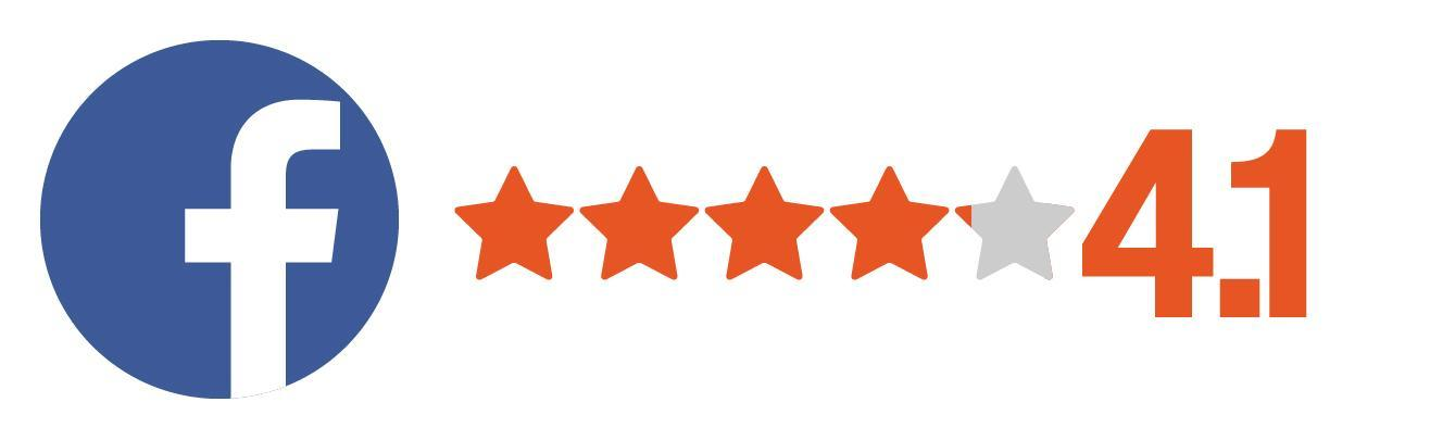 Facebook Rating 4.1 Stars