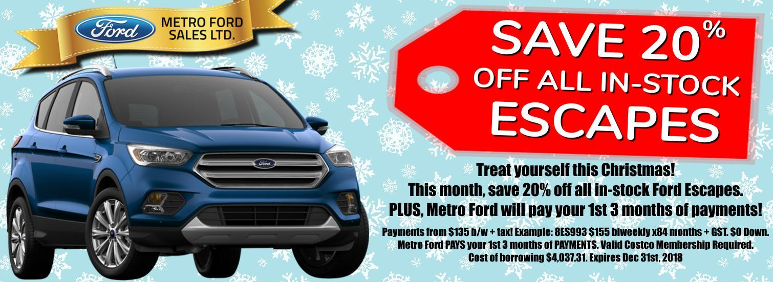 Escape Sale at Metro Ford Calgary!
