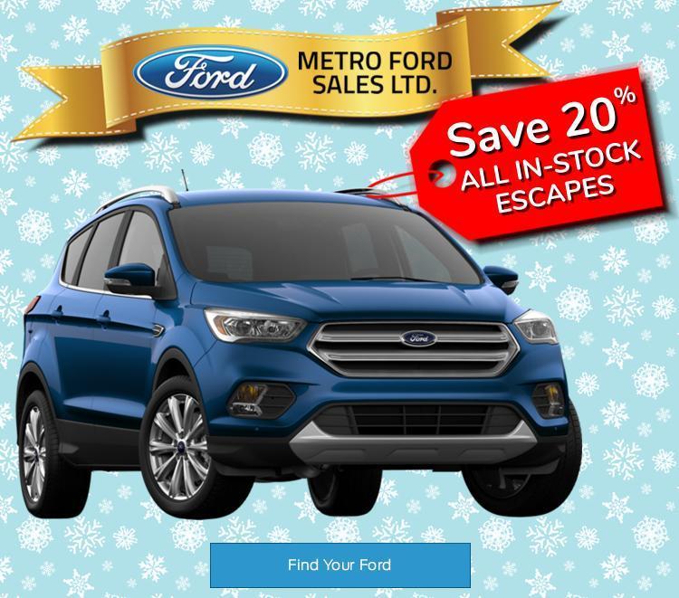 Escape Sale at Metro Ford