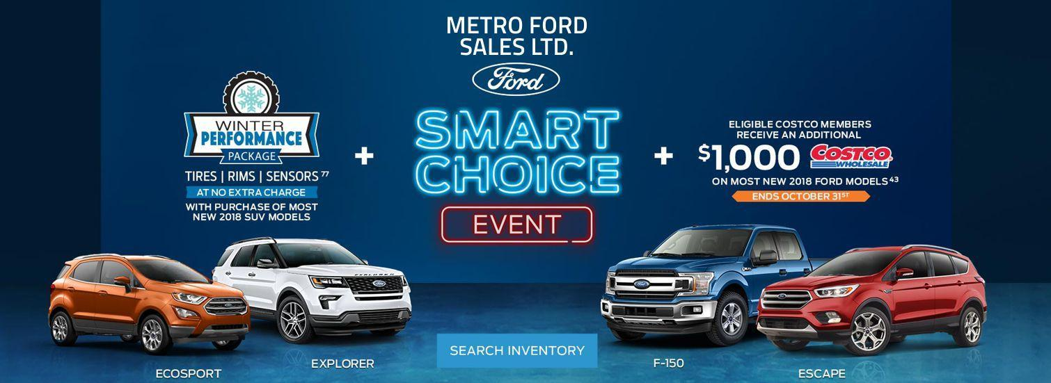 Smart Choice event on now at Metro Ford Calgary