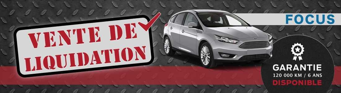 ford focus liquidation speciale quebec