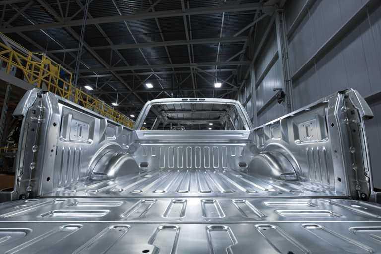 Carrosserie en aluminium du F-150
