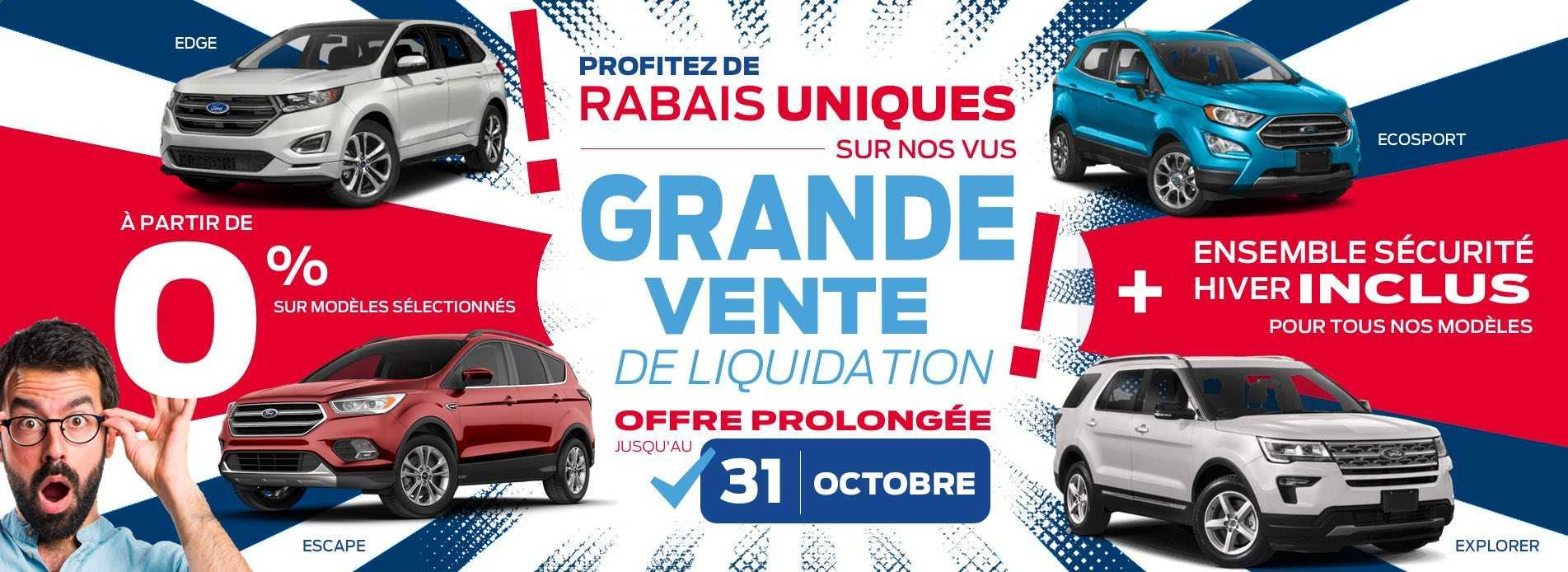 Grande vente de liquidation jusqu'au 31 octobre