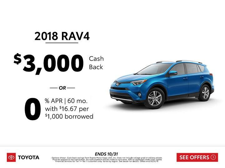 Toyota RAV4 Cash Back 2018