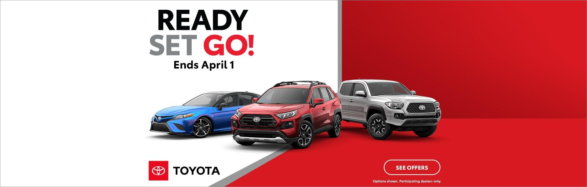 Ready Set Go March Sales Event