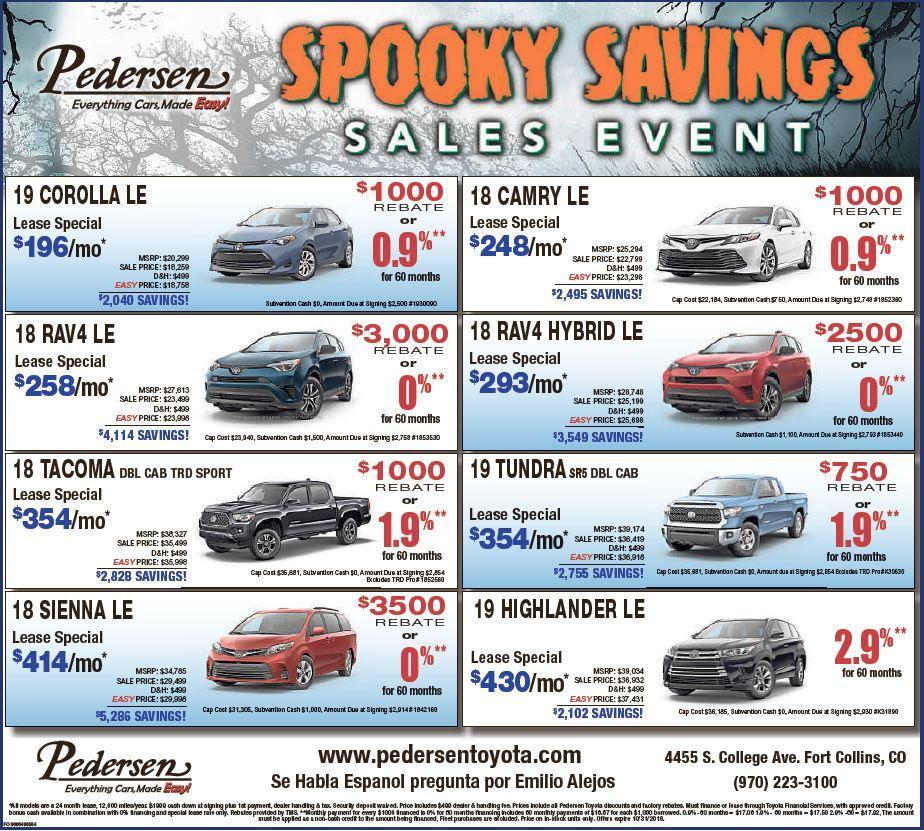 Pedersen Toyota New Specials