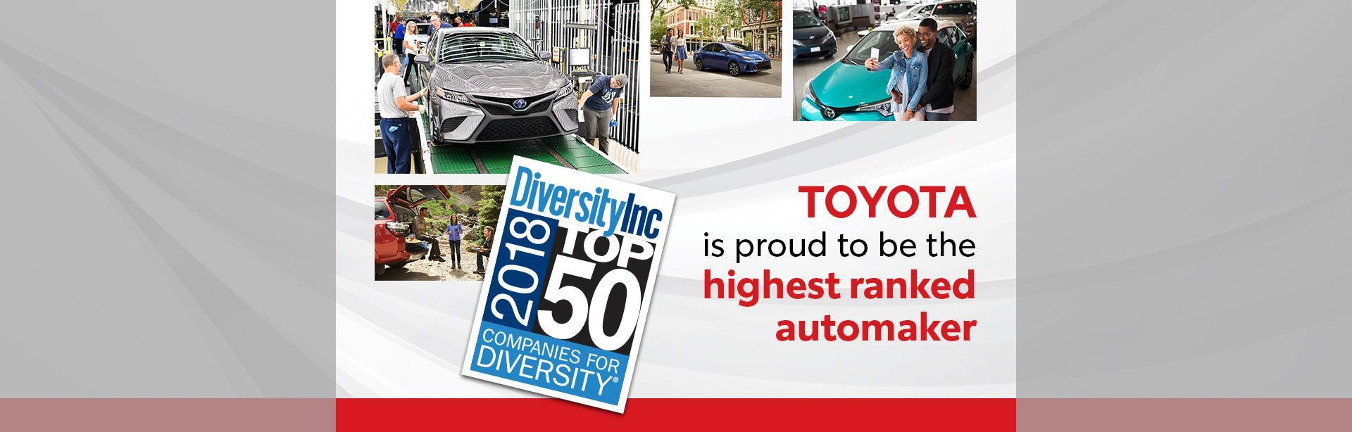 Toyota Highest Ranked Automaker