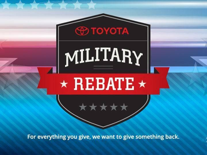 Toyota Military Rebate