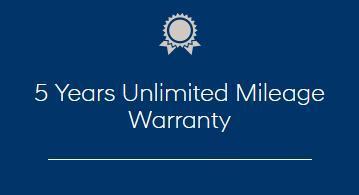 5 Years Unlimited Mileage Warranty
