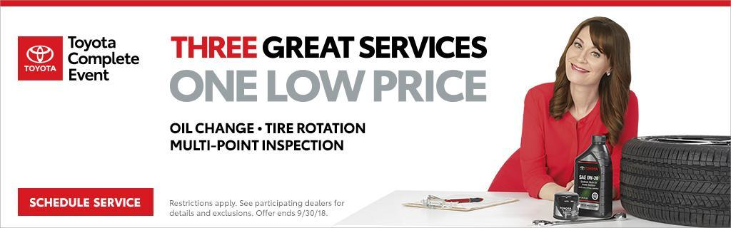 Toyota Three Great Services